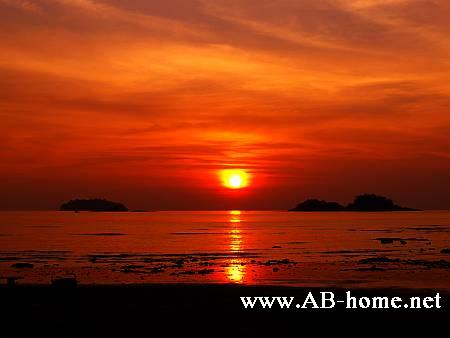 Colorful sunset at Klong Prao