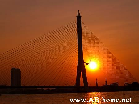 Sunset at the Rama bridge