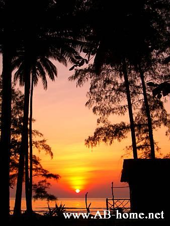 Sunset at Thale Bungalows