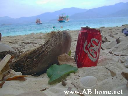 A Coke Can on the Beach