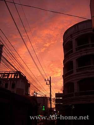 Sunset at Phuket Town