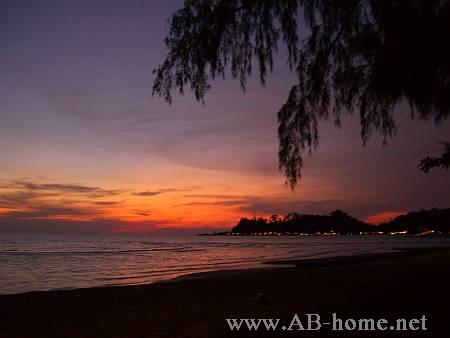 View of a Sunset from Klong Prao Beach