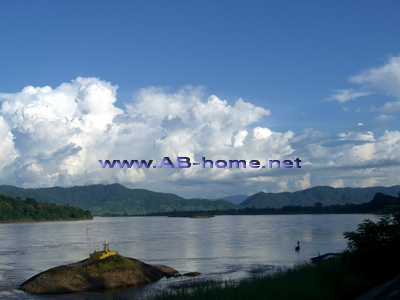 The Mekong River in Chiang Khong