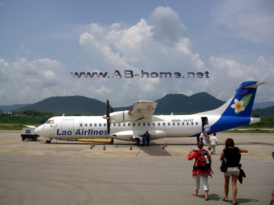 A plane of Lao Airlines in Luang Prabang
