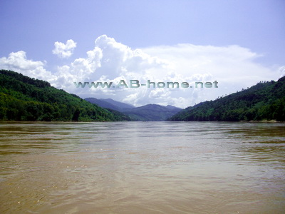 The Mekong River near Luang Prabang in Laos