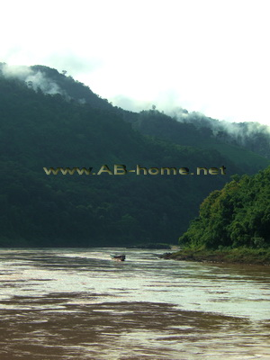 Landscapes at Pak Beng on Mekong River.