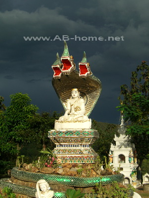 Temple near Chiang Dao in north Thailand
