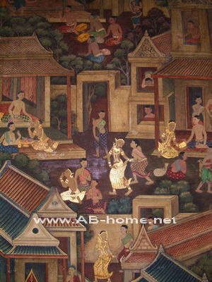Paintings at Wat Pho