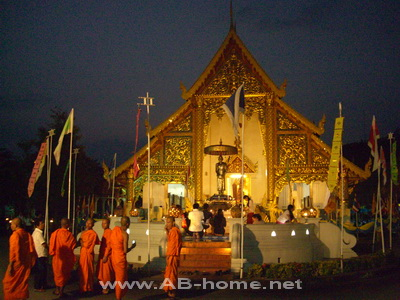 Wat Phra Sing at Loi Krathong
