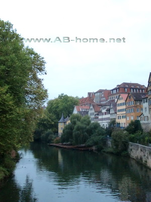 Neckar river in Tubingen